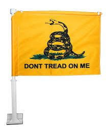 Don't tread on me Car Flag