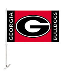 Georgia Buldogs Car Flag
