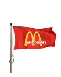 Mcdonald's Corporate flag