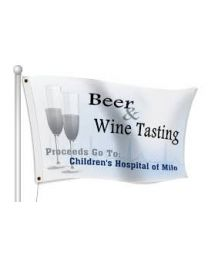 Custom Satin Fundraising Flags