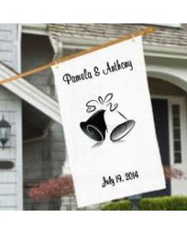 Custom Satin Wedding Flags