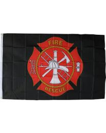 Fire & Rescue Flag (black)