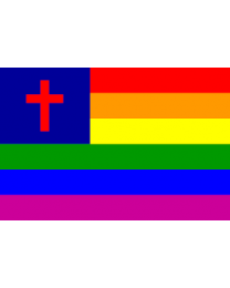 Gay Pride Christian Flag