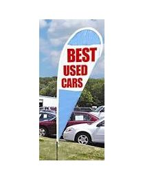 Best Used Cars Teardrop Flag