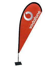 Vodafone Teardrop Flag