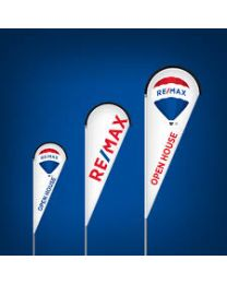 Remax Open House Teardrop Flag