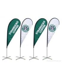 Starbucks Coffee Teardrop Flag