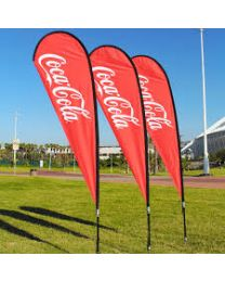Coca Cola Teardrop Flag